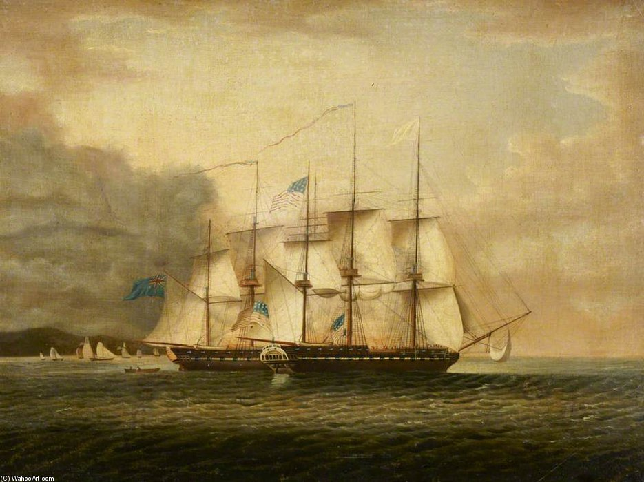 Wikioo.org - The Encyclopedia of Fine Arts - Painting, Artwork by Robert Dodd - Hms 'shannon' Taking Uss 'chesapeake'