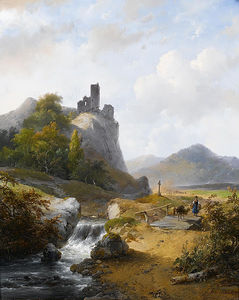 German Landscape With Ruin