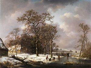 Winter Landscape With Knotty Oak