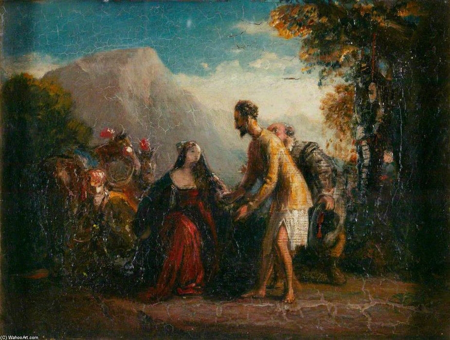 Wikioo.org - The Encyclopedia of Fine Arts - Painting, Artwork by Charles Robert Leslie - Don Quixote And Dorothea