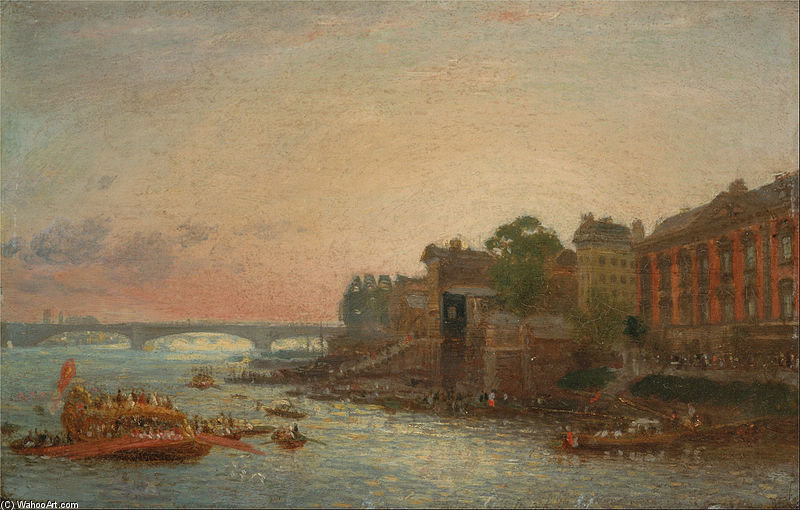 Wikioo.org - The Encyclopedia of Fine Arts - Painting, Artwork by Frederick Nash - Somerset House, London