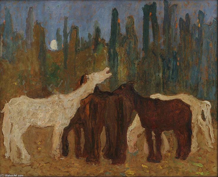 Lamento - Pedro Figari | Wikioo.org - The Encyclopedia of Fine Arts