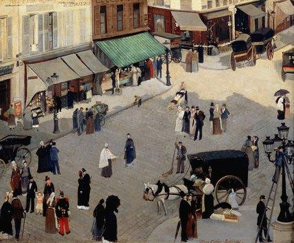 Wikioo.org - The Encyclopedia of Fine Arts - Painting, Artwork by Albert Ernest Carrier Belleuse - La Place Pigalle, Paris
