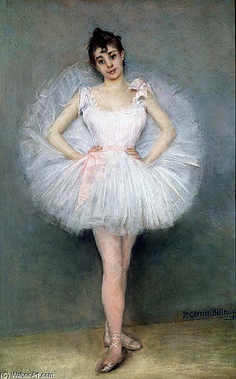 Wikioo.org - The Encyclopedia of Fine Arts - Painting, Artwork by Albert Ernest Carrier Belleuse - Portrait Of A Young Ballerina