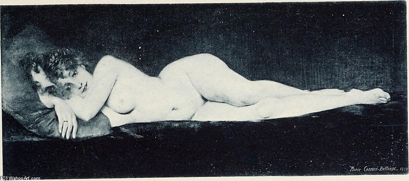 Wikioo.org - The Encyclopedia of Fine Arts - Painting, Artwork by Albert Ernest Carrier Belleuse - Sarah