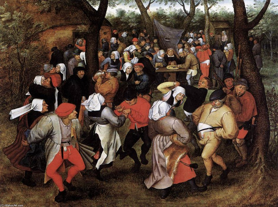 Wikioo.org - The Encyclopedia of Fine Arts - Painting, Artwork by Pieter The Younger Holsteyn - Peasant Wedding Dance