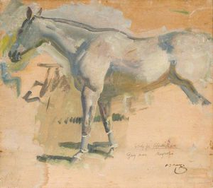 Study For 'after The Race', The Grey Mare 'magnolia'