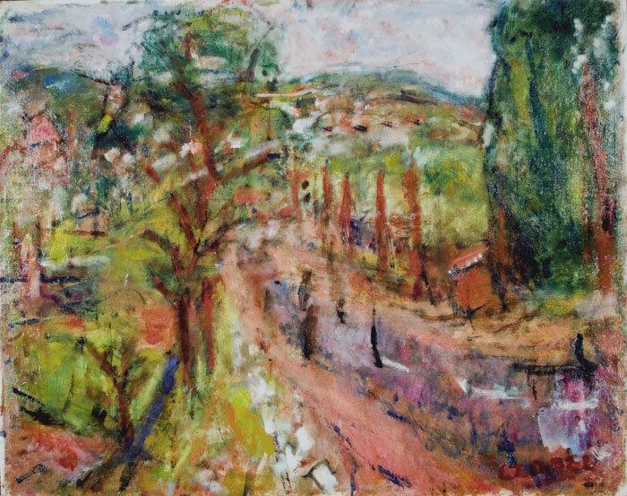 Wikioo.org - The Encyclopedia of Fine Arts - Painting, Artwork by Bela (Adalbert) Czobel - Street In Szentendre
