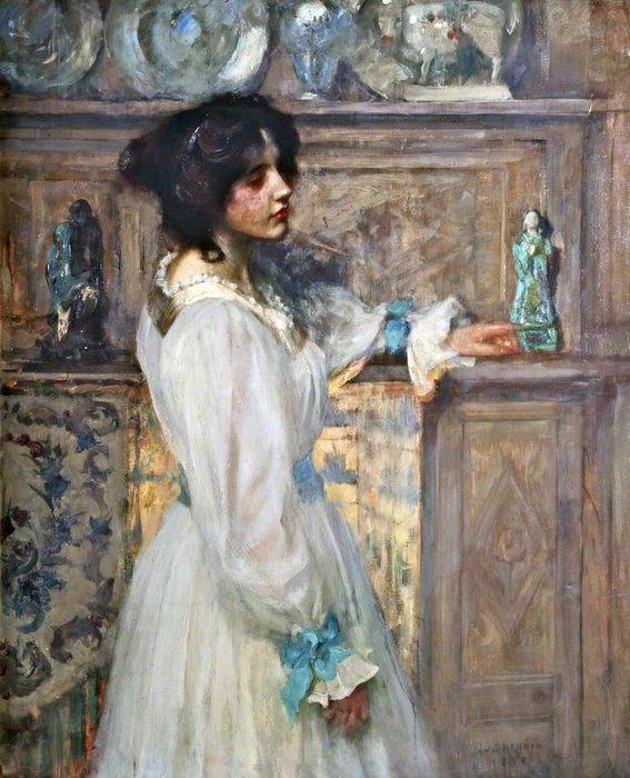 WikiOO.org - دایره المعارف هنرهای زیبا - نقاشی، آثار هنری James Jebusa Shannon - Reverie