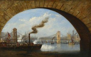 Opening Of Old Hungerford Bridge