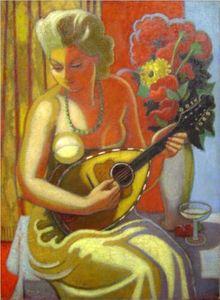 Jeune Femme À La Mandoline