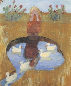 Girl At The Duck Pond