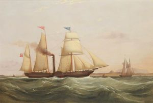 Paddle Steamer 'ethiope' Off West Coast Of Africa
