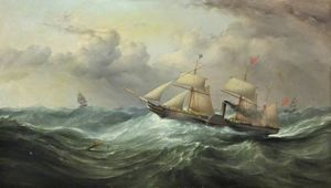 The Steamship 'british Queen'