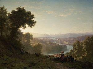 Blick Auf Luzern Vom Stollberg View On Lucerne From The Stollberg