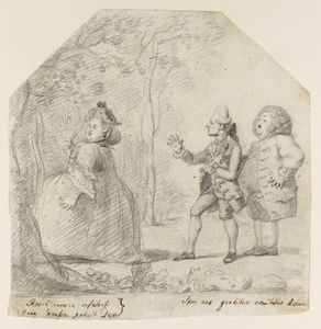 A Fat Lady And Two Courtiers