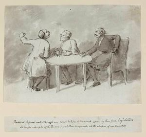 Three Men Seated Around A Table