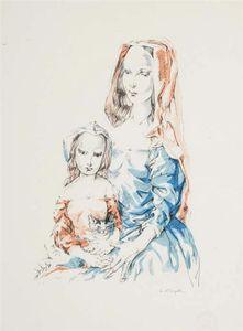 Femme Et Enfant Avec Chaton