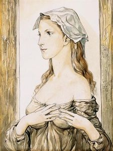 Jeune Femme De Profil, Les Mains Croisées Sur La Poitrine