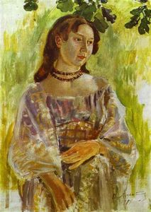 Young Girl With A Necklace