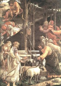 The Trials And Calling Of Moses (detail - )