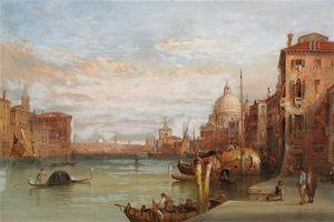 Views Of The Grand Canal Near Santa Maria Della Salute