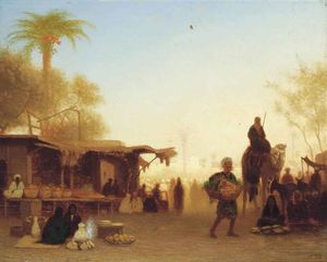 A Cairo Bazaar At Dusk