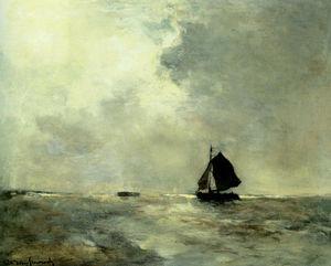Sailing Boat In Choppy Seas
