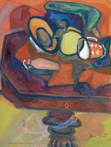 Table Still-life With Mug And Pear