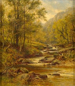 Angler On The Stream - Alexander Young
