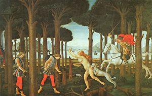 panel i of the story of nastagio degli