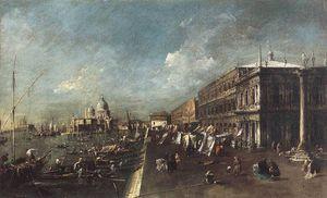 View of the Molo towards the Santa Maria della Salute