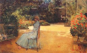 the artists wife in a garden