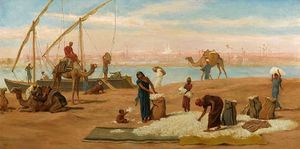 Unloading Cotton on the Nile