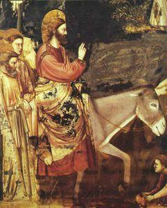 scene dal vita di cristo . Entrata in Jerusa