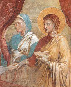 Scene da vecchio testamento . Isac Benedizione Giacobbe