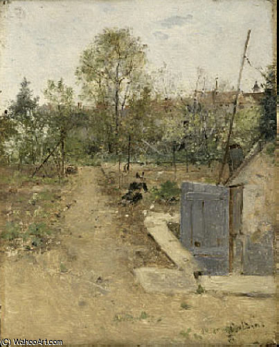 Wikioo.org - The Encyclopedia of Fine Arts - Painting, Artwork by Giovanni Boldini - In the Garden