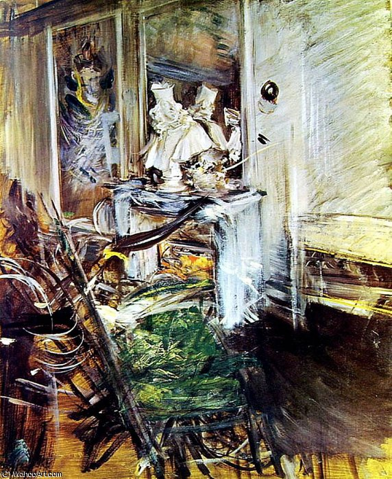 Wikioo.org - The Encyclopedia of Fine Arts - Painting, Artwork by Giovanni Boldini - Room of the Painter