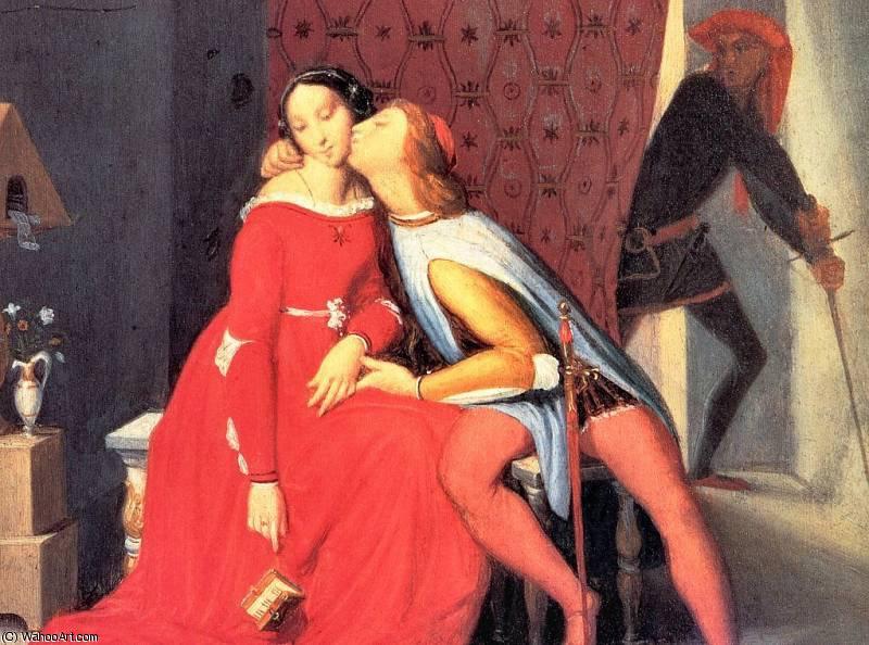 Wikioo.org – L'Enciclopedia delle Belle Arti - Pittura, Opere di Jean Auguste Dominique Ingres - Paolo e Francesca