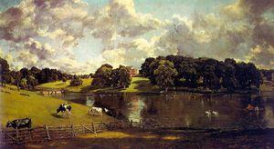 wivenhoe park, essex - oil on canvas -