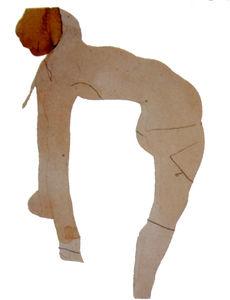 Auguste Rodin Femme nue aux cheveux renversés en arrière Graphite et aquarelle sur papier
