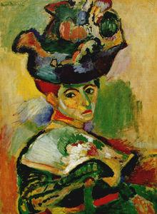 Femme au chapeau Huile sur Toile Collection Particulière