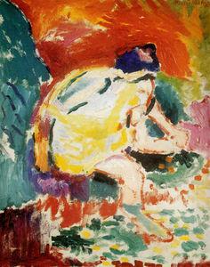 Femme au ruisseau Huile sur Toile Galerie Artel