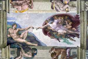 creación de adán ( capilla sixtina )