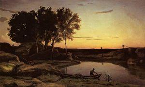 Evening Landscape aka The Ferryman Evening
