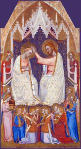 The Coronation of the Virgin - Central Main Tier Panel