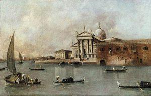 Una vista de la Iglesia de San Giorgio Maggiore Visto desde la Giudecca