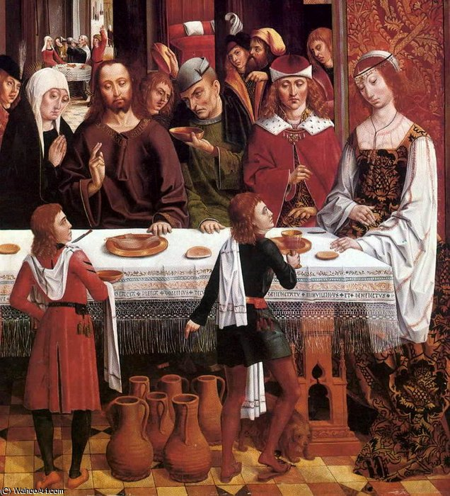 Wikioo.org - The Encyclopedia of Fine Arts - Painting, Artwork by Master Of The Catholic Kings - Marriage at Cana (detail)