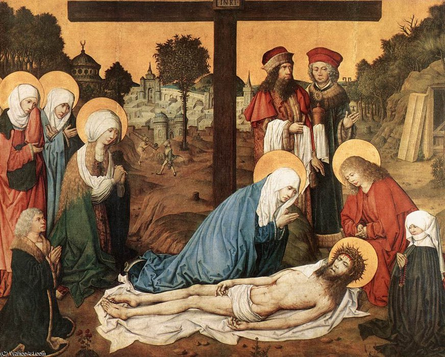 Wikioo.org - The Encyclopedia of Fine Arts - Painting, Artwork by Master Of The Housebook - Lamentation of Christ