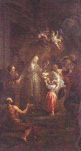 St elisabeth distributing alms